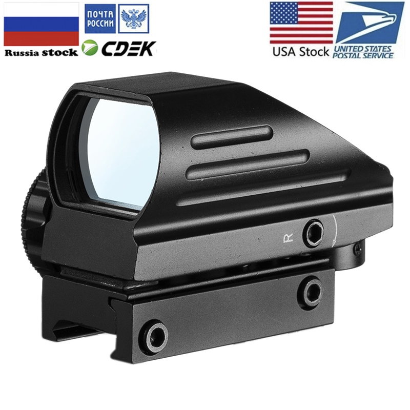 Red Dot Sight Scope Tactical Reflex Riflescope Reticle Holographic Projected Sight Hunting 20mm Rail Mount 1MOA