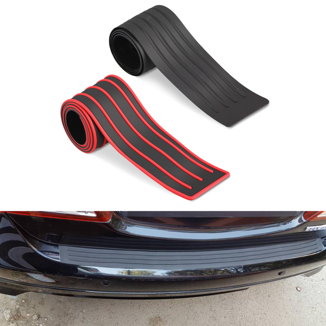 1PCS Rubber Car Door Sill Bumper Guard Plate Sticker Rear Bumper Protection  Trim Cover Strip Scratch