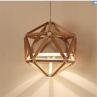 Nordic creative personality restaurant lights bedroom living room pendant lights modern minimalist Diamond lamp iron lamp YA7261