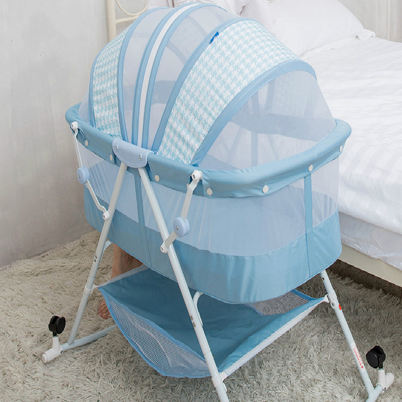 BB baby multifunctional bed, folding newborn, portable cradle bed, travel bed, sleeping artifact, sleeping basket baby bed folding multifunctional portable baby bed iron newborn cradle