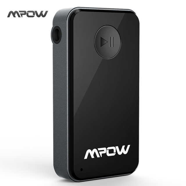 Mpow Streambot Portable Wireless 4.0 Bluetooth Audio Music Receiver Adapter Hands Free Car Kit for Home Streaming Audio System