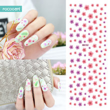 Rocooart KB151-152 Nail Art Stickers Tips Decoration Nails Wraps Beauty Makeup Harajuku Element Flowers Water Transfer Sticker(China)