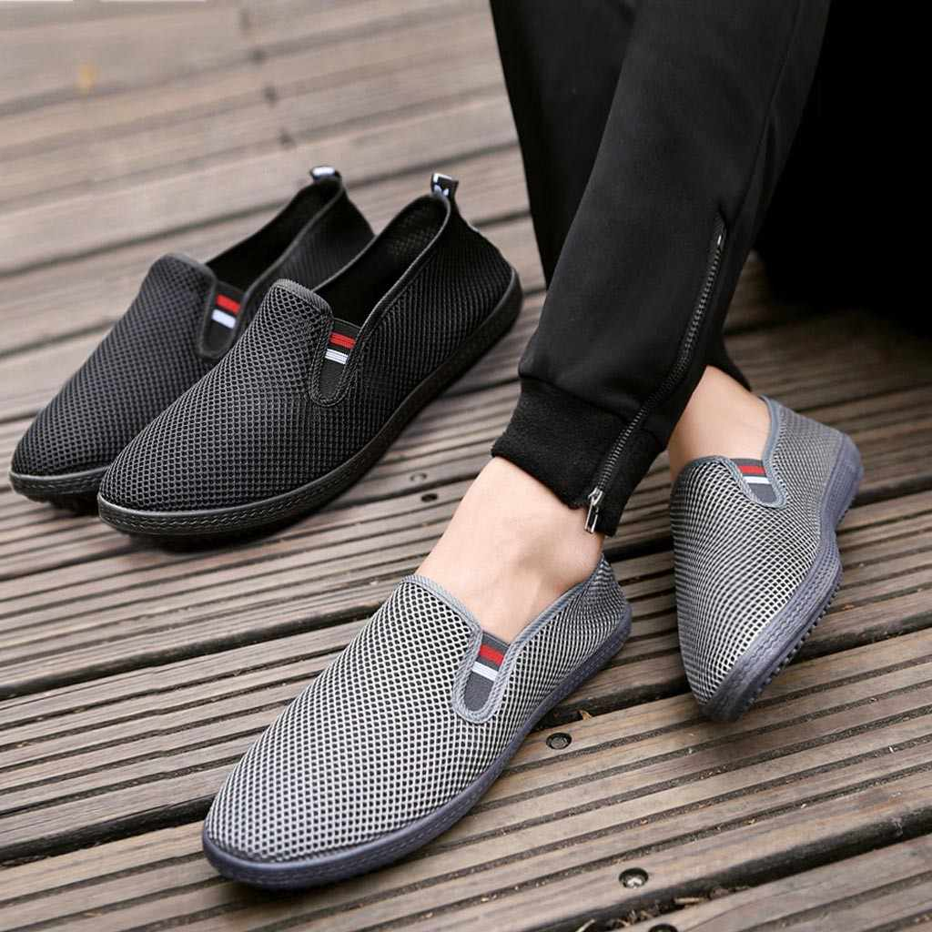 Fashion Men Mesh Casual Slip-On Breathable Driving Boat  Dress Shoes casual shoes men sneakers sport shoes men 2018