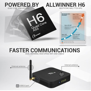 Image 3 - TX6 Android 9.0 Smart TV Box Android boîte Allwinner H6 4GB RAM 32G ROM prise en charge 4K H.265 2.4G/5G WiFi BT4.1 lecteur multimédia Tanix TX6