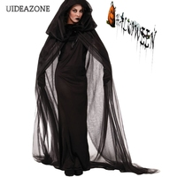Halloween Night Wandering Ghost Cosplay Women Dress Gothic Witch Devil Survivor Role Play Dresses Game Costume Vestidos
