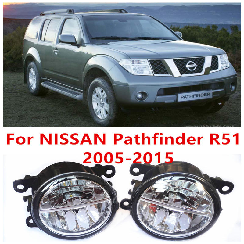 For NISSAN Pathfinder Closed Off-Road Vehicle R51  2005-2015 Fog Lamps LED Car Styling 10W Yellow White 2016 new lights car styling led fog lights for mitsubishi pajero iv v8 w v9 w closed off road vehicle 2007 2012 fog lamps 10w drl 1set
