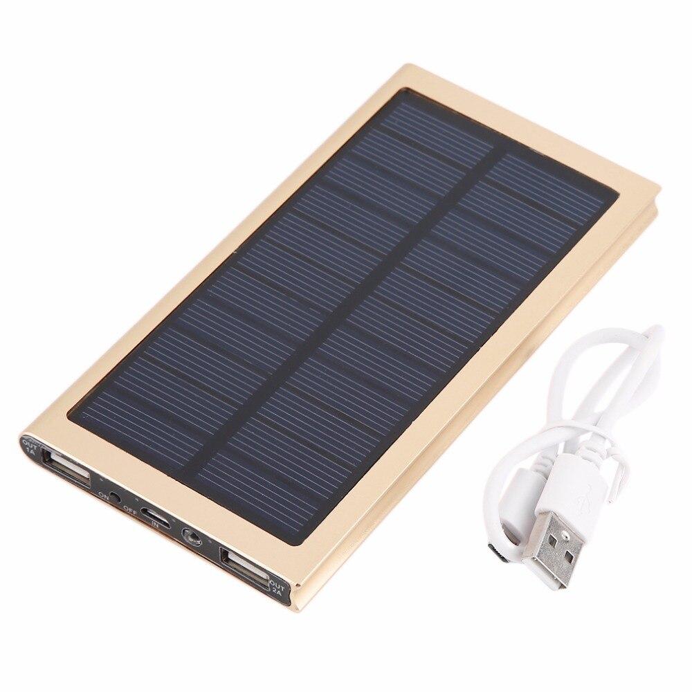 imágenes para Dual USB 8000 mah Powerbank Portátil de Energía Solar de Carga de Batería Externa Para Muchos Teléfonos Móviles Con Indicador LED de Batería