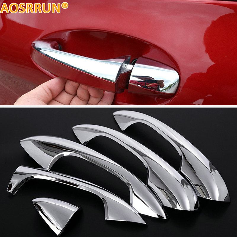 aosrrun abs chrome trim door out handle cover car. Black Bedroom Furniture Sets. Home Design Ideas