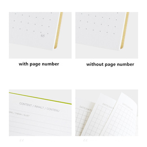 Image 3 - Dotted Notebook Journal Planner Agenda Binder Blank Grid Daily Schedule Organizer Brief Lines School Stationery Students