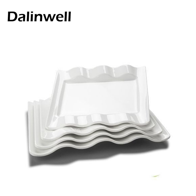 1PC Creative Western Square Pure White Melamine Dishes Plates Cheap Home Tray Panel Tableware Dinnerware Flatware  sc 1 st  AliExpress.com & 1PC Creative Western Square Pure White Melamine Dishes Plates Cheap ...