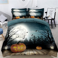 3D Bedding Set Pumpkin Halloween decorate Twin Full Queen California king Linen set Single Double Bed set Duvet Cover