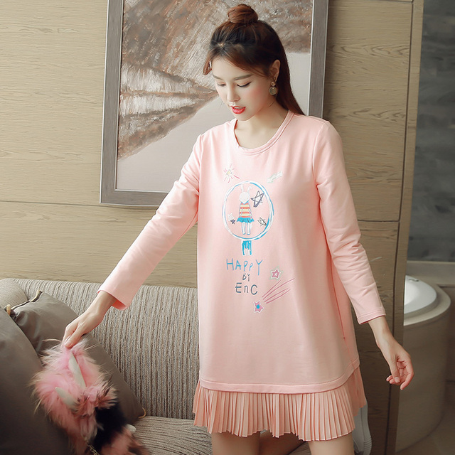 2017 primavera maternidade roupas blusas casuais chiffon camisa de manga longa tops blusa ladies lace top senhora sem encosto pullover topo
