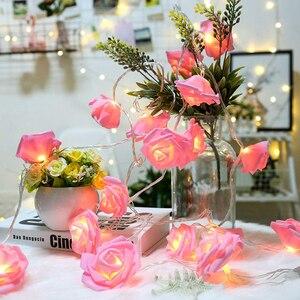 10/20/40 LED Pink Rose Flower