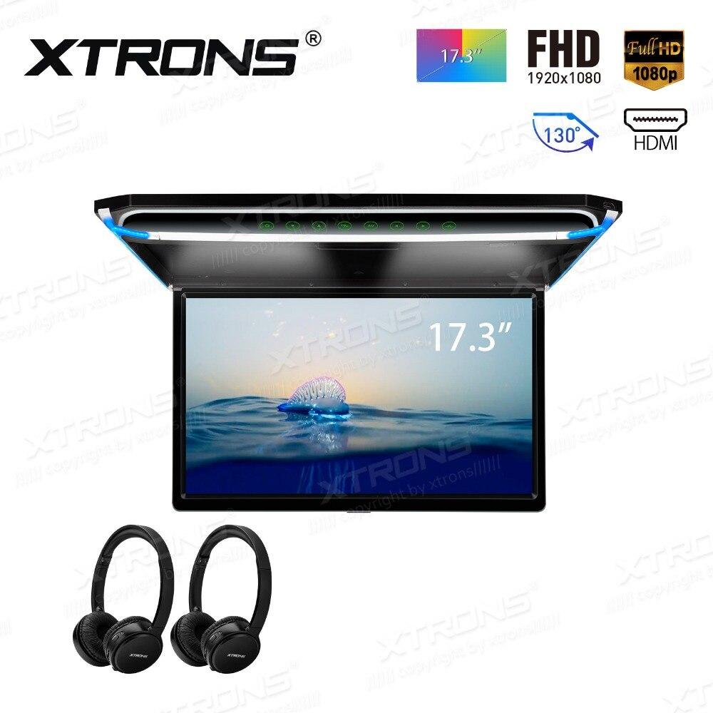 17,3 FHD ультра тонкий 1920*1080 P HD цифровой TFT 16:9 монитор для монтажа на крышу Автомобильная крыша Plarer HDMI USB SD + 2 IR наушники