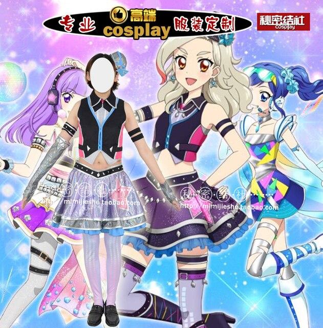 High quality Aikatsu Stars Cosplay costume for women men halloween Dress  Custom Made