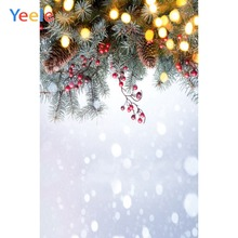 Yeele Christmas Photocall Party Decor Pine Nut Snow Photography Backdrops Personalized Photographic Backgrounds For Photo Studio