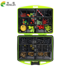 100 Pieces Fishing Set Box Lures Tool Portable Kit Jig Hooks Tools With Soft Lead Hook HJ096