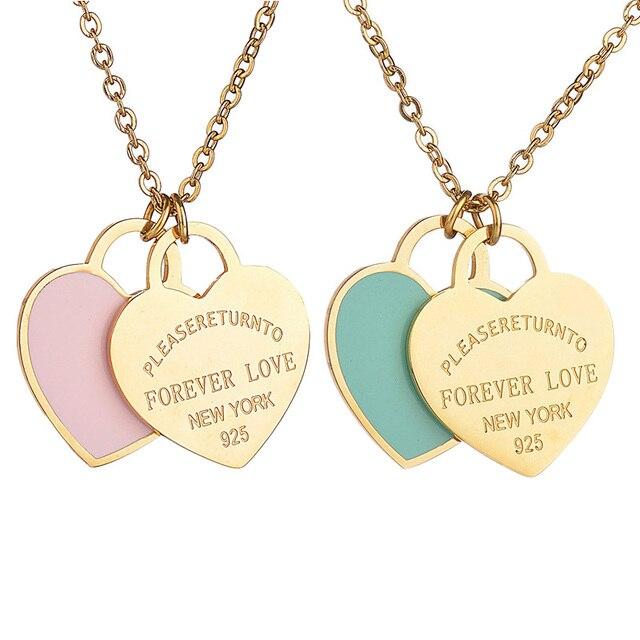 Ожерелье с подвеской в форме сердца из нержавеющей стали