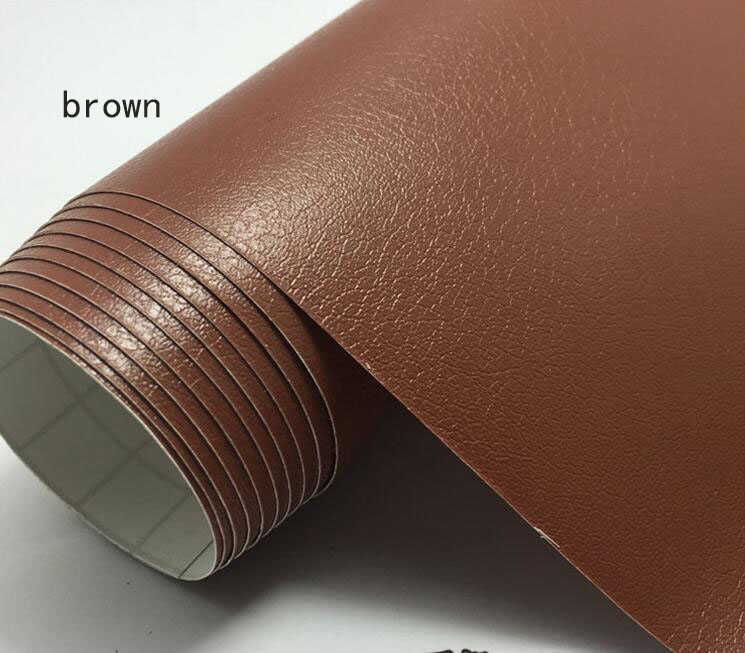 152x30cm Car High Quality Stickers Imitation Leather Design Film Viny Wrap Decoration DIY Decal Center Console Etc Wholesale