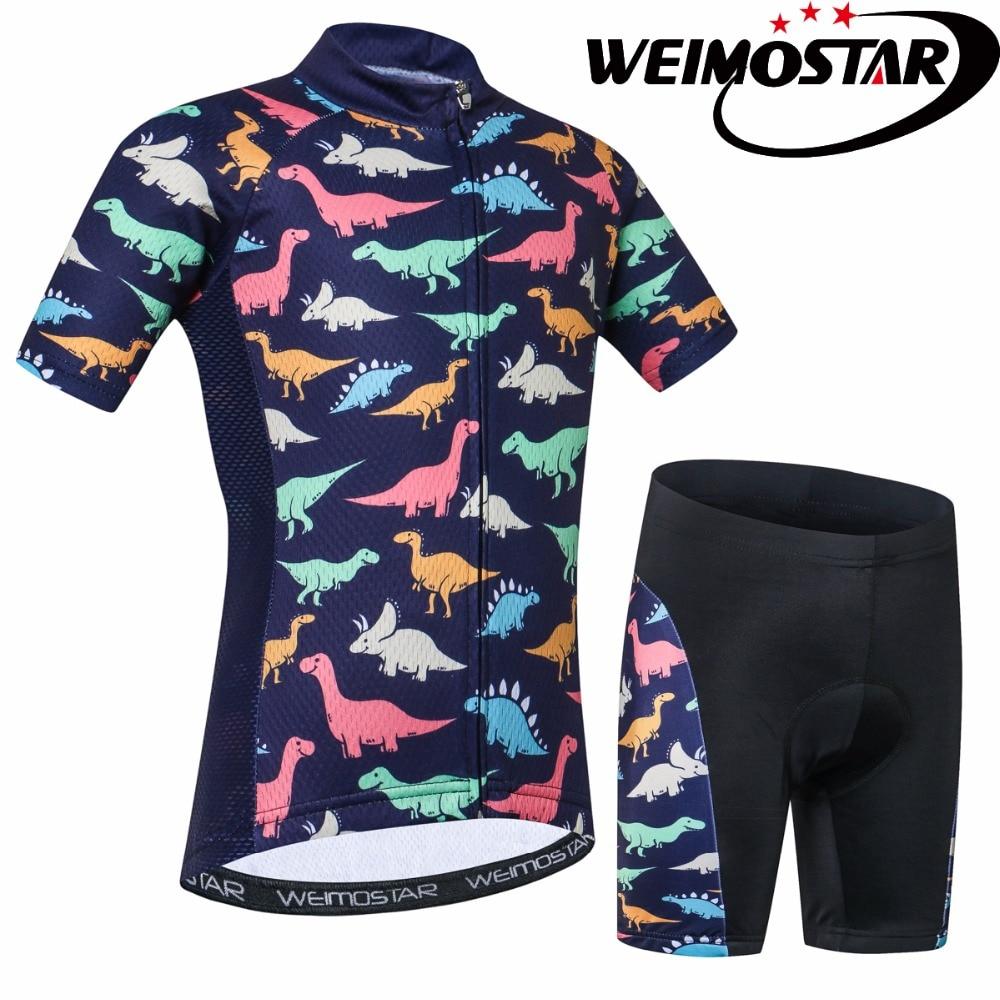 Weimostar Bike Jersey Short-Sleeve Cycling Ropa-Ciclismo Children Mtb Summer