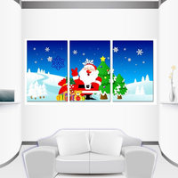 Christmas Tree Bell Modern Oil Painting Canvas Painting Art Posters and Prints FAMILY Decoracion Wall Pictures A3 A4 3pcs/set