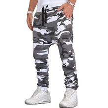 ZOGAA 2019 spring New 7 colors Men Camouflage Trousers Jogging Sports Pants Fitness Sport Army Plus size S-3XL
