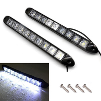 2pcs High Quality 12V 9 LED Car Strip Daytime Running Light DRL Fog Driving Light Super