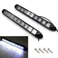 2pcs High Quality 12V 9 LED Car Strip Daytime Running Light DRL Fog Driving Light Super