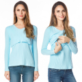 Maternity Nursing top V-neck Long Sleeve Cotton Breastfeeding T-shirt for Pregnant women 2016 New Clothing