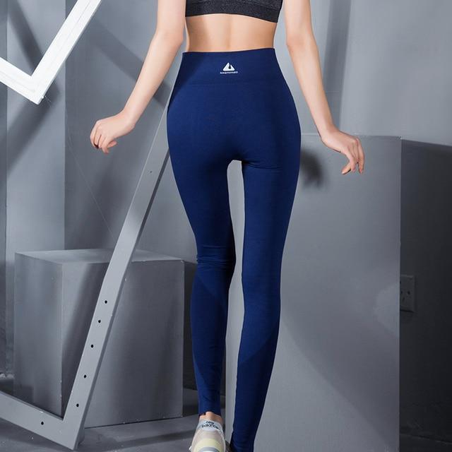 2017 New Arrival Women Full Length Yoga Pants High Waist Elastic GYM Fitness Leggings Shapewear Workout Female Sports Jeggings