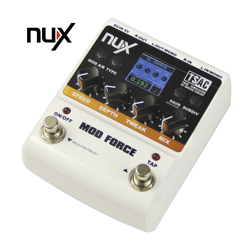 Nux Guitar Mod Force Electric Guitar Effectors Pedals 12 Multi Modulation True Bypass Musical Instrument Parts nux pmx 2 multi channel mini mixer 30