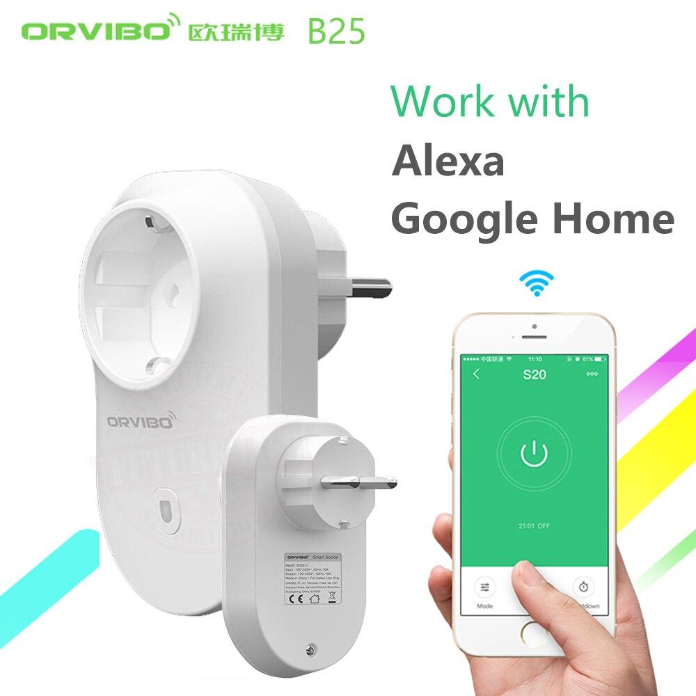 Alexa/Google Home Orvibo Smart Power Socket Plug B25 EU Smart Home 4g/wifi Remote Controller Wireless Switch