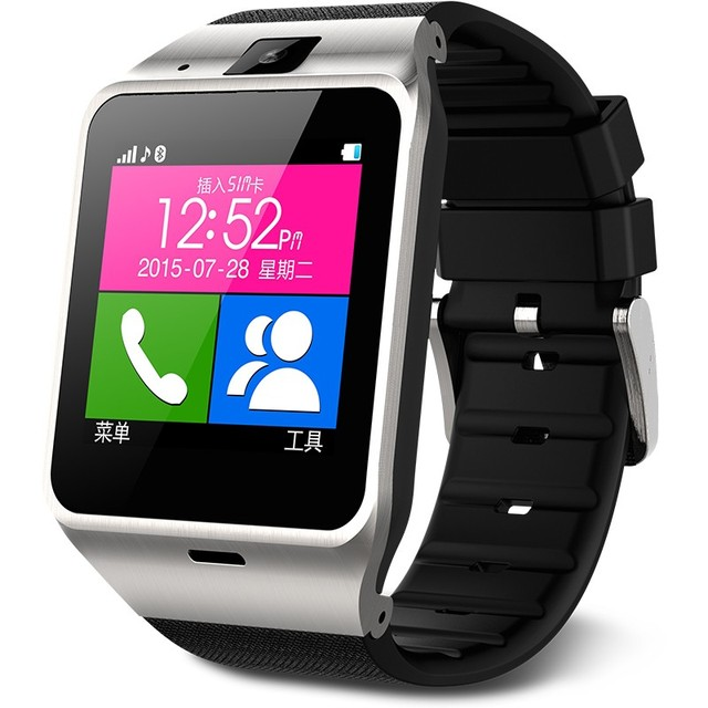 2016 Moda smartwatch android GV18 apoio SMI/TF esporte das mulheres dos homens relógio de pulso para IOS Android Telefone PK GT08 DZ09