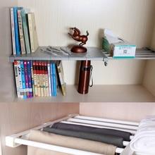 Free Nail Stretching Wardrobe Layered Separated Compartment Shelves Bathroom Organising Shelf Storage Rack Adjustable
