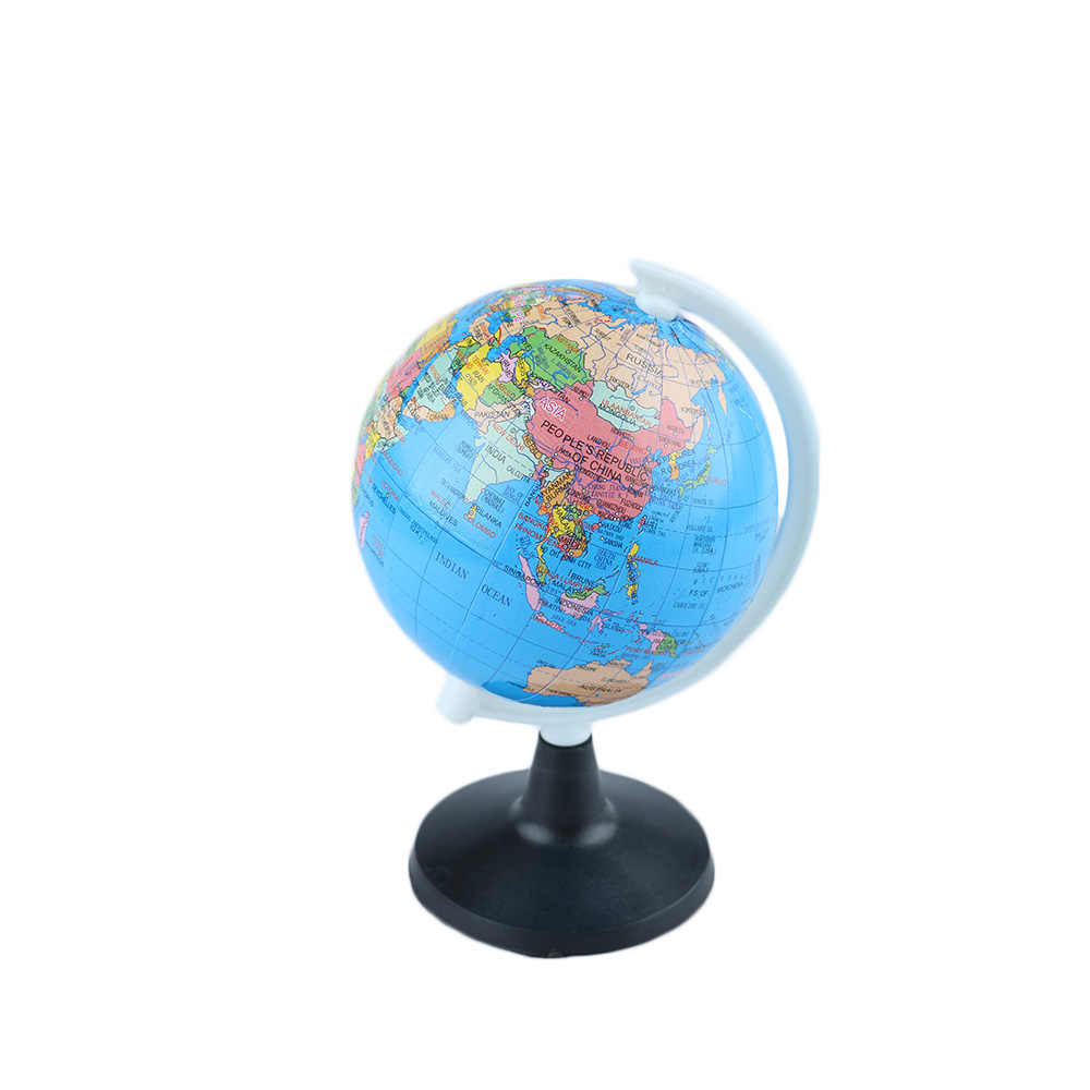 85mm World Globe Atlas Map With Swivel Stand Geography Educational Toy Home Office Ideal Miniatures Gift office gadgets