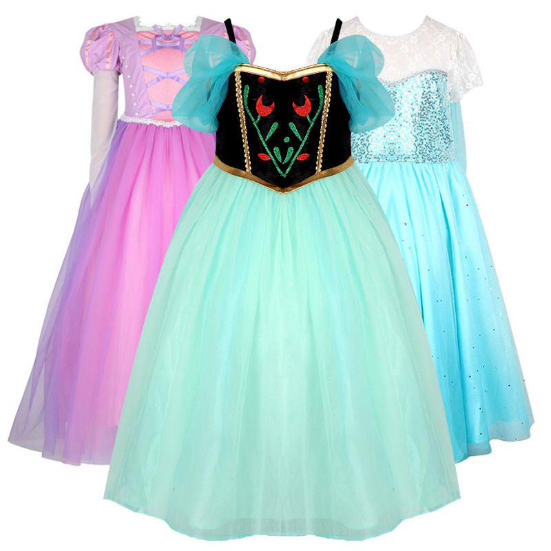 Kids Cosplay Costume Dress Cinderella Elsa Baby Girls