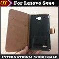 Para lenovo s939 case top quality 6 cores stand com cartão da carteira de couro esquilo capa protetora phone case para lenovo S939