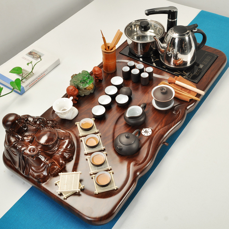 Household tea suit 220V induction cooker hardcover big tea tray home decoration accessories tea sets