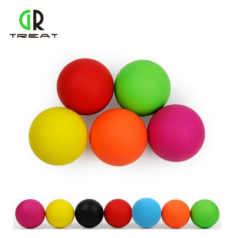 GR Treat Yoga Therapy Balls 6cm Natural Rubber Lacrosse Ball In Fitness Gym Crossfit Ball