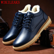 купить Designer Handmade Leather Shoes Men Winter Boots High Quality Warm Snow Boots Men Ankle Boots Men Botas Hombre Botines Hombre дешево