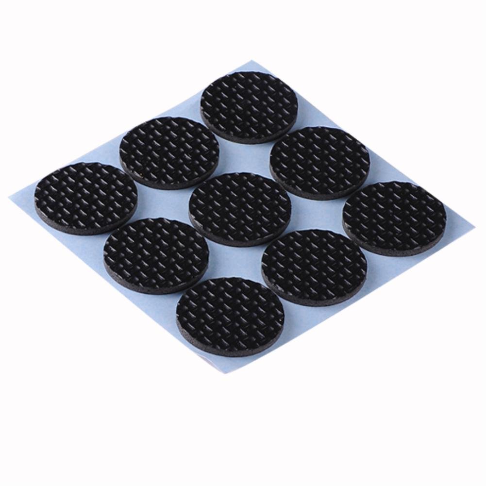 Black Strong Anti Slip Furniture Scratch Pads Floor Chair Table Legs Self  Adhesive Circle Protector