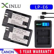 LP E6 LPE6 LP-E6 E6N Battery 2600mAh + LED Dual Charger For Canon EOS 5DS R 5D Mark II 5D Mark III 6D 7D 80D EOS 5DS R Camera lp e6 lpe6 lp e6 e6n battery 2600mah led dual charger for canon eos 5ds r 5d mark ii 5d mark iii 6d 7d 80d eos 5ds r camera