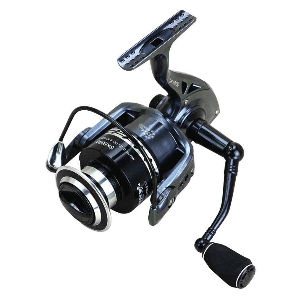 New Spinning Fishing Reel CNC Machined Handle EVA Knob 13+1 Ball Bearing Wheel Fish Tool 2000-7000 Portable Fishing Tool B2Cshop