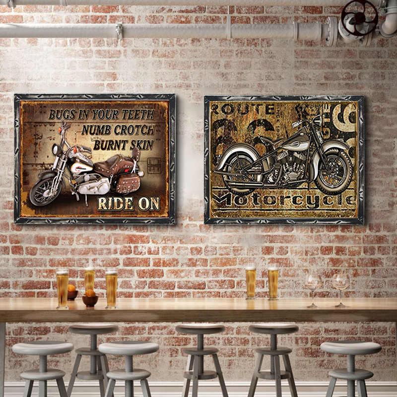 Moto Piastra del Metallo Dell'annata Segni di Latta Poster Da Parete Decalcomanie Piastra Pittura Bar Club Bar Complementi Arredo Casa Della Parete di 1001 (419) 20x30cm