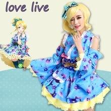 New LoveLive! Eli Ayase Cosplay Costume Yukata Kimono Dress Uniform Outfit Halloween Adult Costumes for Women S-XL все цены