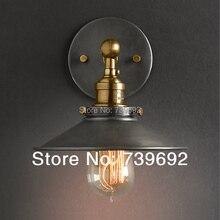 Американский стиль прикроватные антикварные настенные лампы с одной головкой гостиная загорается старинные моды бар лампы dia.22cm черный, белый цвет E27