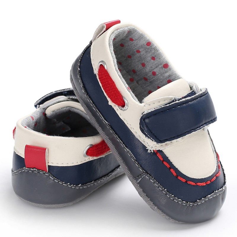 Baby Boy Shoes PU Sneaker Sport Shoes Baby Boys Soft Bottom Anti-slip Newborn First Walkers
