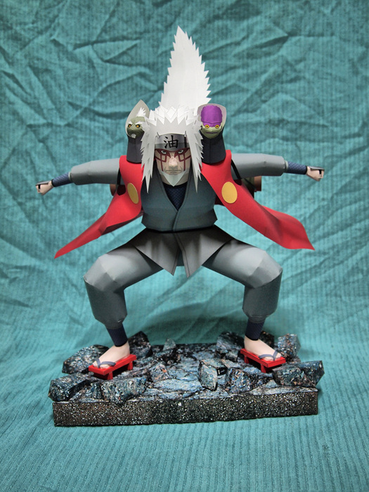 3D Paper Model Anime NARUTO Jiraya Handmade DIY Toy