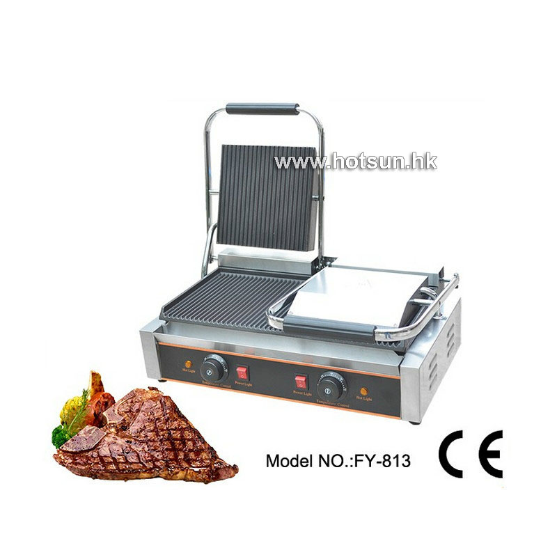 Commercial Electric 220v Countertop Flat Top Teppanyaki Induction Smokeless Double Panini Contact Griddle commercial non stick electric 220v countertop table top teppanyaki plate panini contact griddle