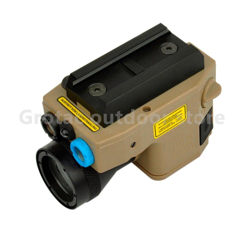 Feux de chasse Élément tactique lumière Rouge Laser/IR LED/IR Laser Torche ELLM 01 Laser Pointeur version Tactique lampe de poche